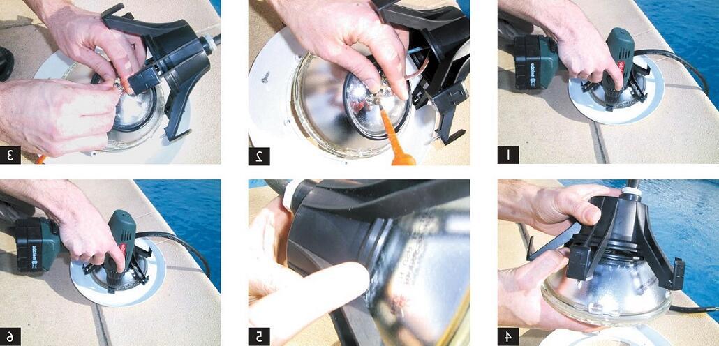 Comment retirer une ampoule dans une piscine ?