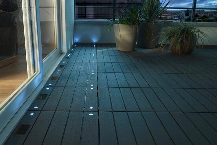 Où placer les spots sur une terrasse ?