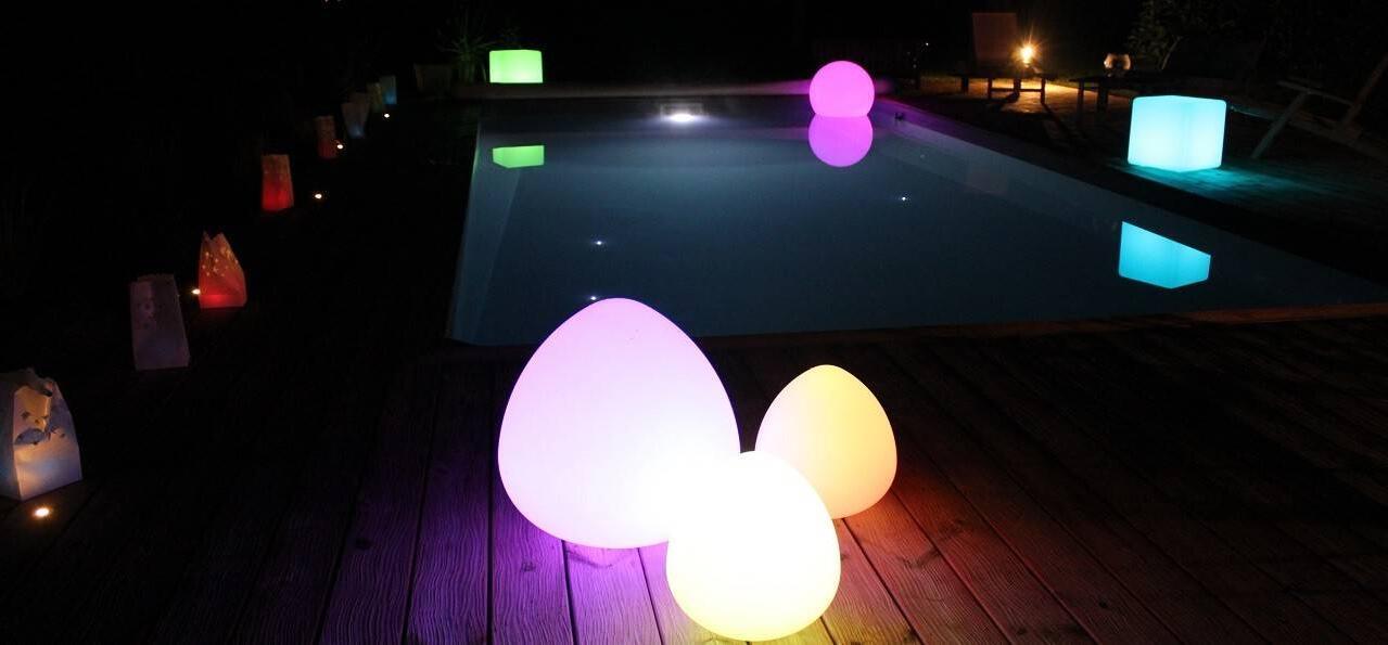 Quel type d'éclairage autour d'une piscine ?