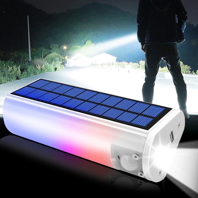 Quels sont les avantages d'intégrer un détecteur de présence dans une lampe solaire ?